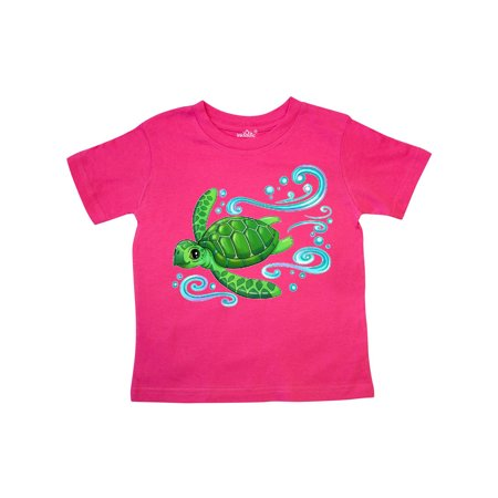 Sea Turtle Swimming Toddler T-Shirt