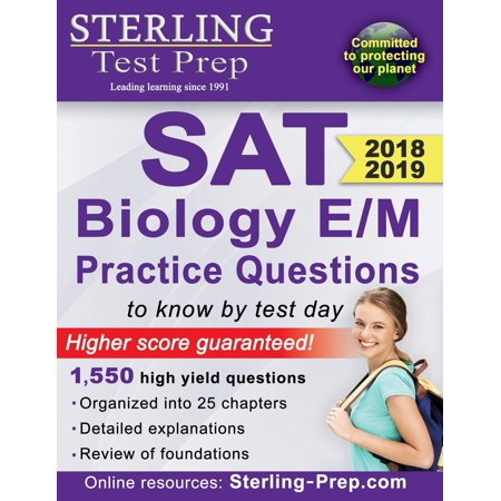 Sterling Test Prep SAT Biology E/M Practice Questions : High Yield SAT Biology E/M