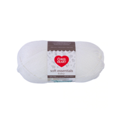 Red Heart Soft Essentials Baby Cotton White Knitting & Crochet Yarn