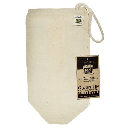 Ecobags  Recycled Cotton Canvas Lunch Sack  1 Bag  7  W X 10 5  H Pack Of 4