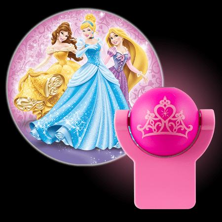 - Projectables Disney Princesses LED Plug-In Night Light, Belle, Cinderella, and Rapunzel Image, 13230