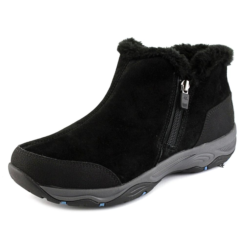 Easy Spirit Prisco Women Round Toe Suede Black Winter Boot by Winter Boots
