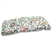 Pillow Perfect 495828 Pom Pom Play Lagoon Wicker Loveseat Cushion
