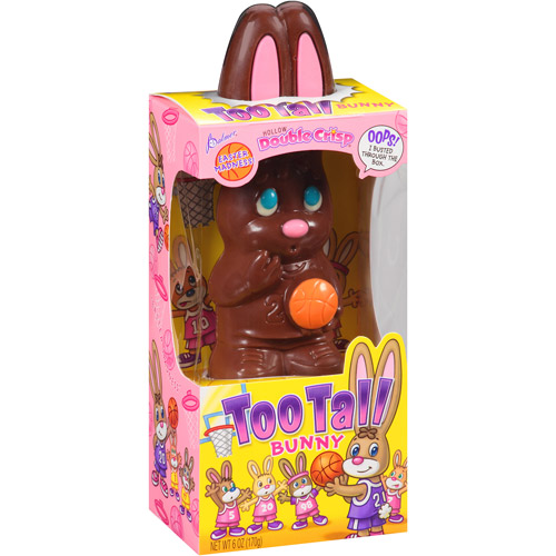 Palmer Hollow Double Crisp Too Tall Chocolate Easter Bunny, 6 oz