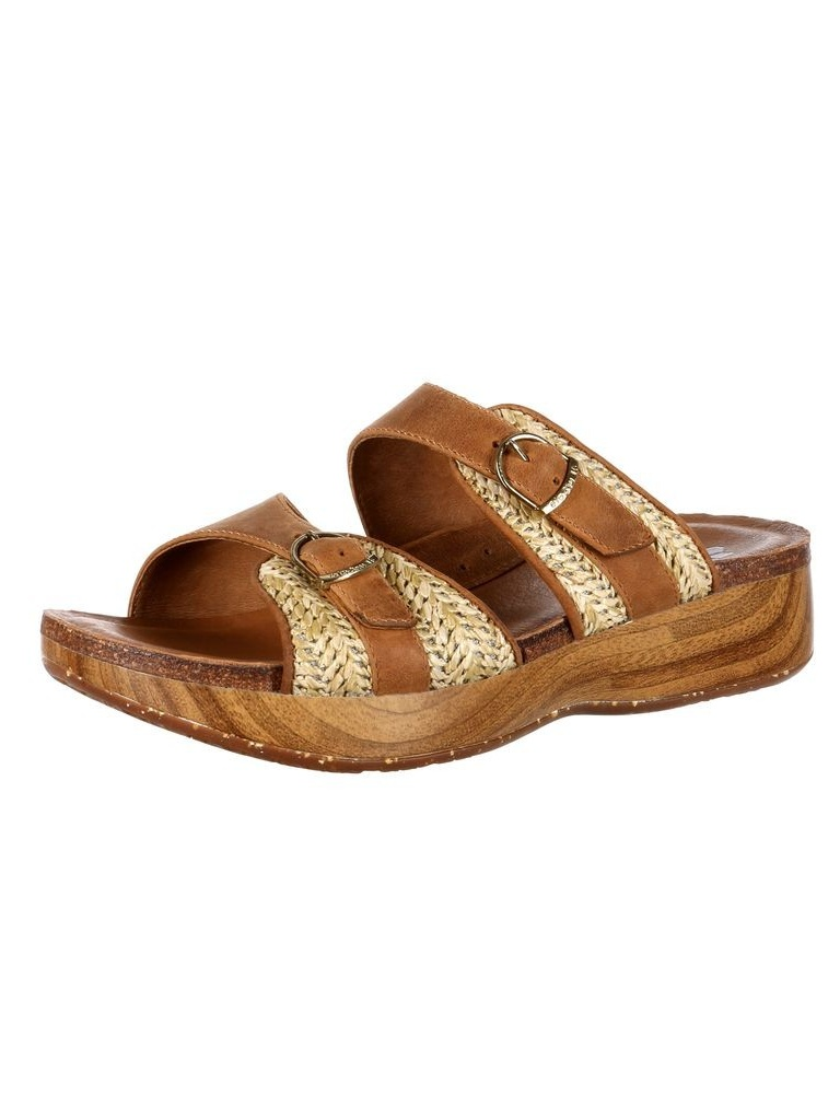 4EurSole Casual Shoes Womens Golden Day Slide Brown RKH094