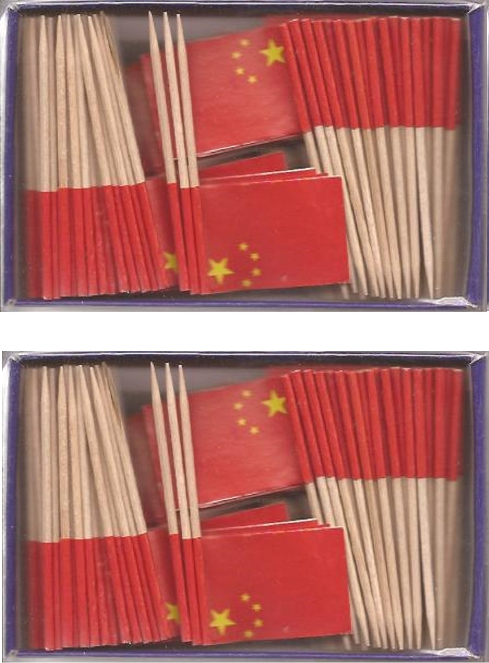 2 Boxes of Mini China Toothpick Flags, 200 Small Chinese Flag Toothpicks or...
