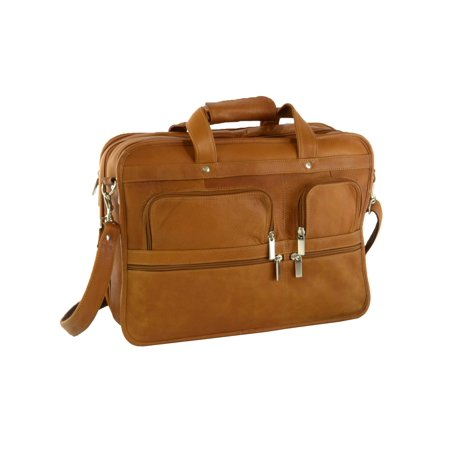 Hammer Anvil Turbo Expandable Laptop Briefcase Colombian Leather Messenger Bag Tan One Size ()