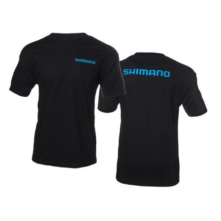 Shimano Brand Cotton Short Sleeve Tee Black, Medium