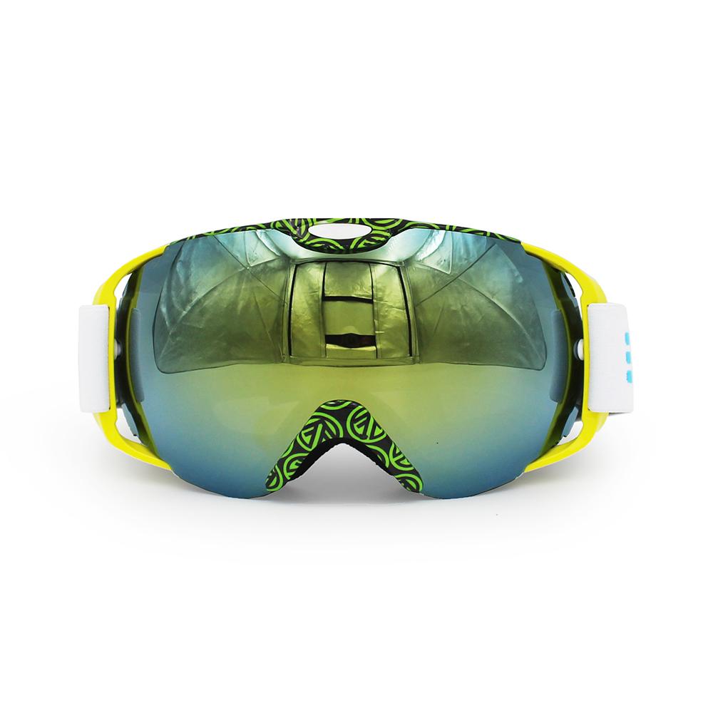 Ediors Windproof Snowmobile Ski Goggles Protective Eyewear Anti Fog Double Lens All Mountain   UV Protection by Ediors