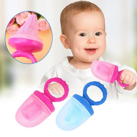 Baby Infant Fresh Food Fruit Vegetable Feeder Safety Chew Juicer Mesh Bag Feeding Tool