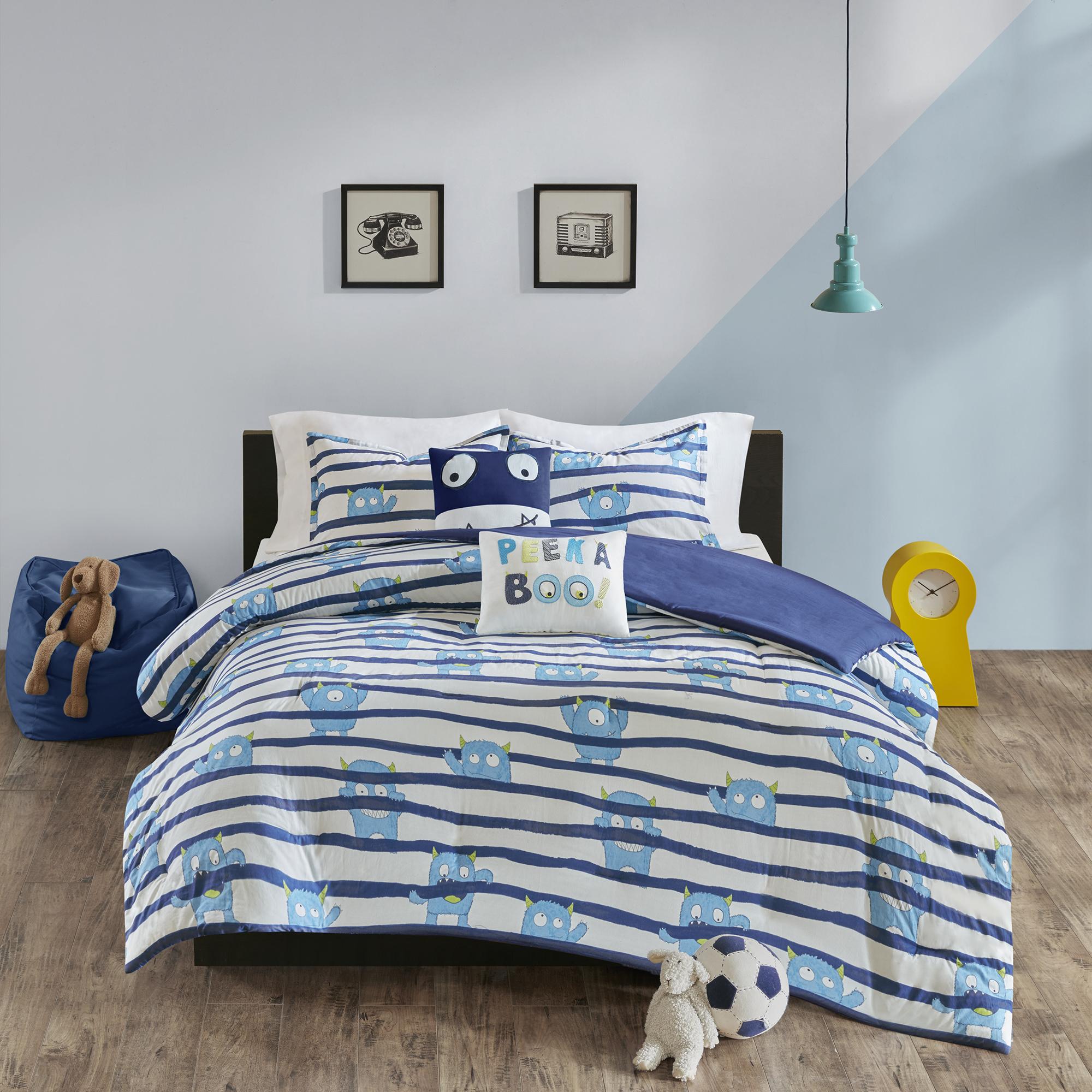 Home Essence Kids Spook Cotton Printed Duvet Cover Set