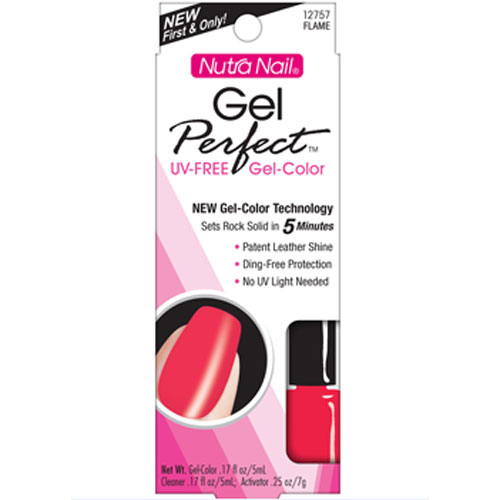 Nutra Nail Gel Perfect Uv Free Gel Color Flame # 12757 - Kit