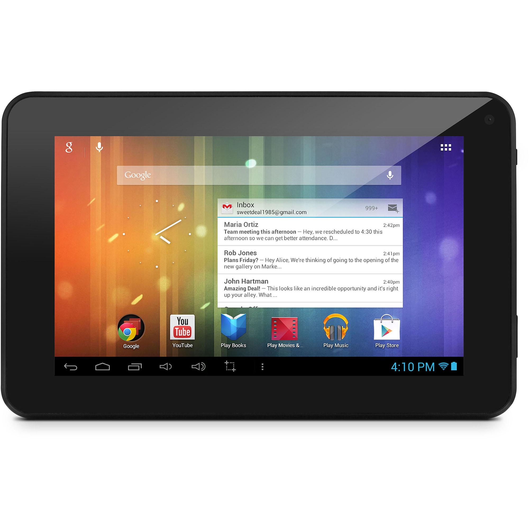 """Ematic Refurbished EM63BL-RB HD with WiFi 7"""" Touchscreen Tablet PC Featuring Android 4.1 (Jelly Bean) Operating System, Black"""