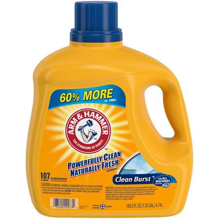 Cleaning Detergent (Arm & Hammer Clean Burst Liquid Laundry Detergent, 160.5 fl)