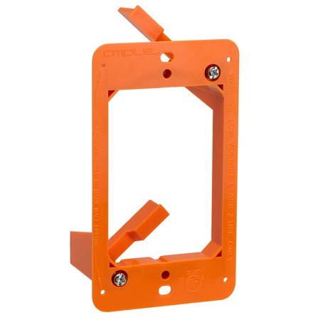 Cmple - Low Voltage 1 Gang Bracket Mount Single Multipurpose DryWall Mounting Wall Plate