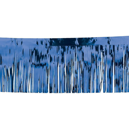 Fun Express - Blue Metallic Float Fringe (10ft) for Party - Party Decor - Hanging Decor - Misc Hanging Decor - Party - 1 Piece - Parade Float Fringe