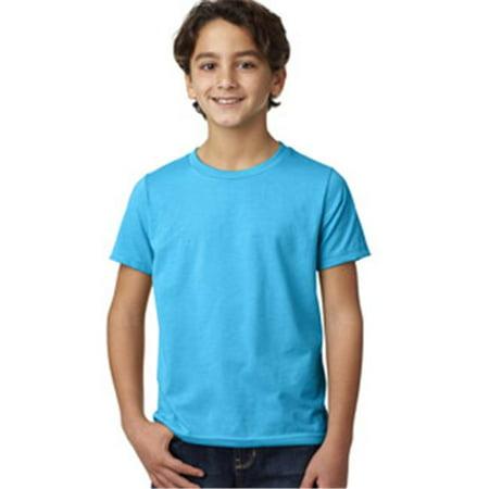 85bf56236ee 3312 Next Level Boys CVC Crew Neck Tee Turquoise - Medium - Walmart.com