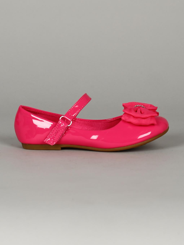 Patent Rhinestone Fabric Bow Mary Jane Flat Toddler//Little Girl//Big Girl 18327