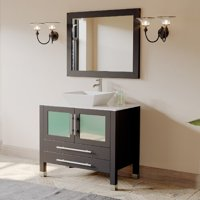 Cambridge Plumbing Juniper 35'' Single Bathroom Vanity Set with Mirror