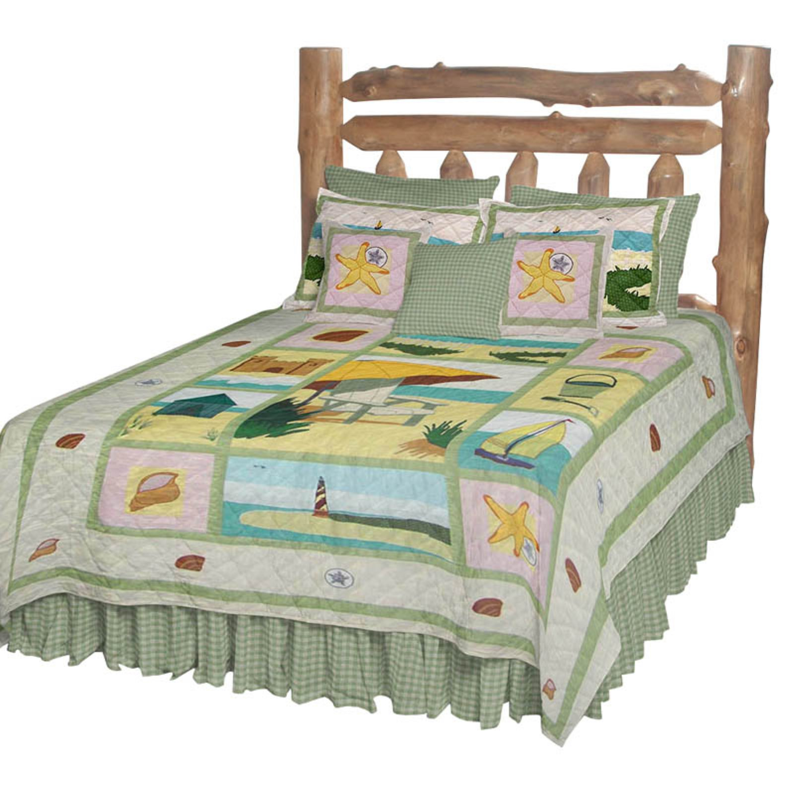 Patch Magic QTOCVW Ocean View, Quilt Twin 65 x 85 inch