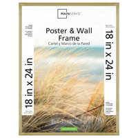 "Mainstays 18x24"" Brass Metallic Poster and Picture Frame"