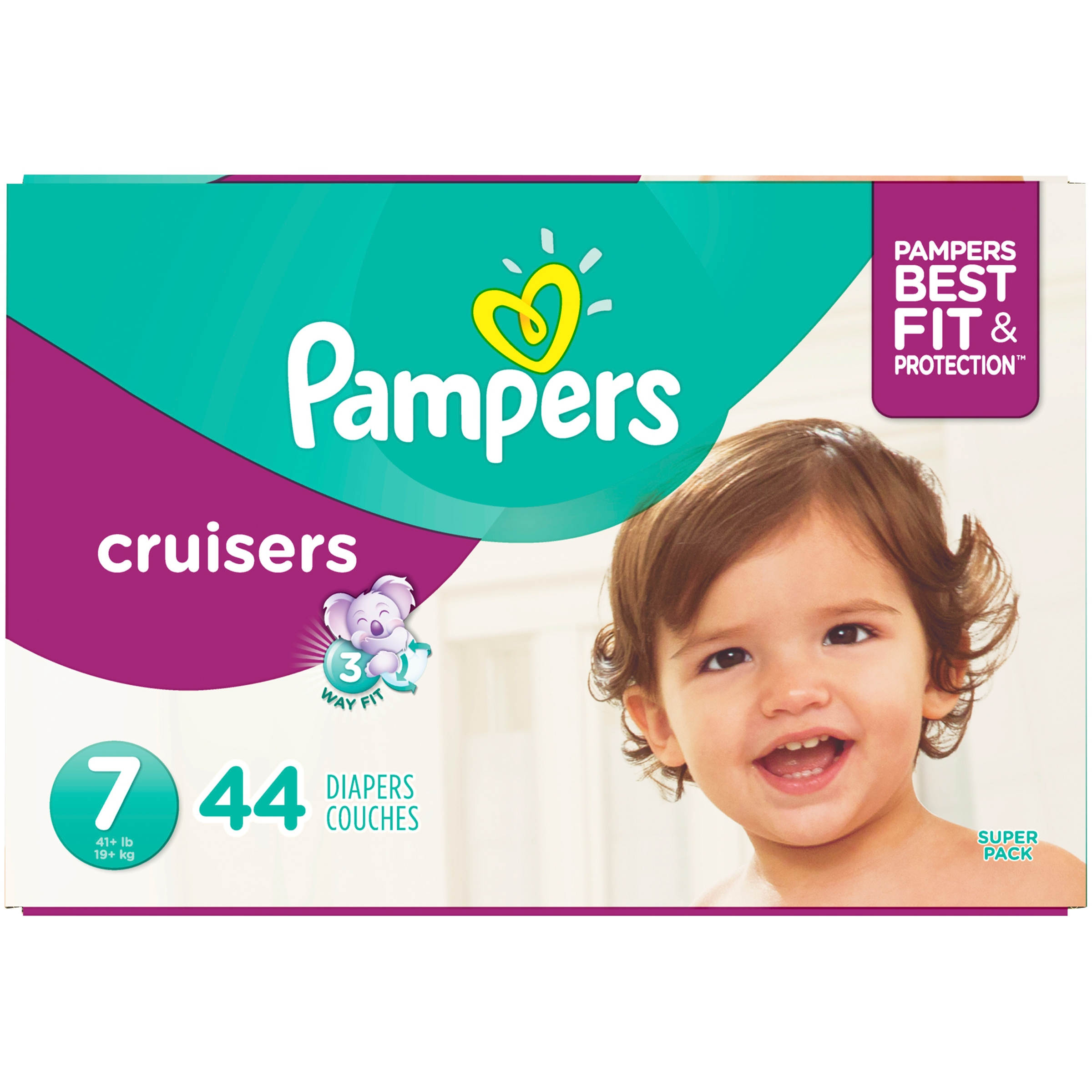 Pampers Cruisers Diapers Size 7 44 Count
