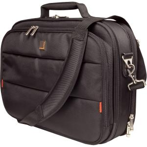 "Urban Factory City Classic CCC03UF V2 Carrying Case (Briefcase) for 17.3"" Notebook - Black - Water Resistant - 1680D Nylon - Shoulder Strap, Handle, Hand Strap - 16.1"" Height x 18.5"""