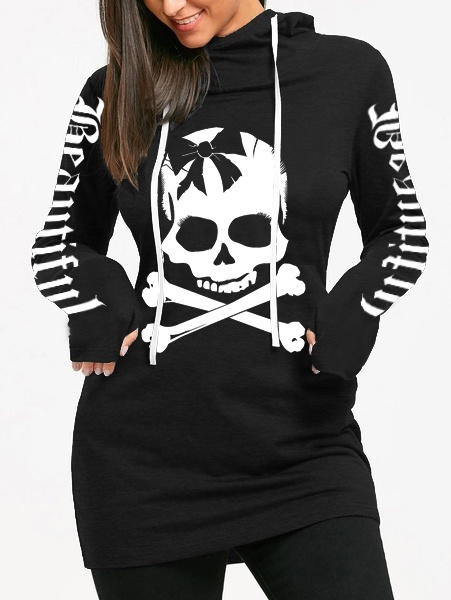 Boys Sugar Skull Patterns Print Athletic Pullover Tops Fashion Sweatshirts