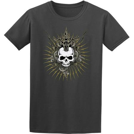 JH Design Group Men's Gothic Skull Design Graphic T-Shirt (Men Gothic)