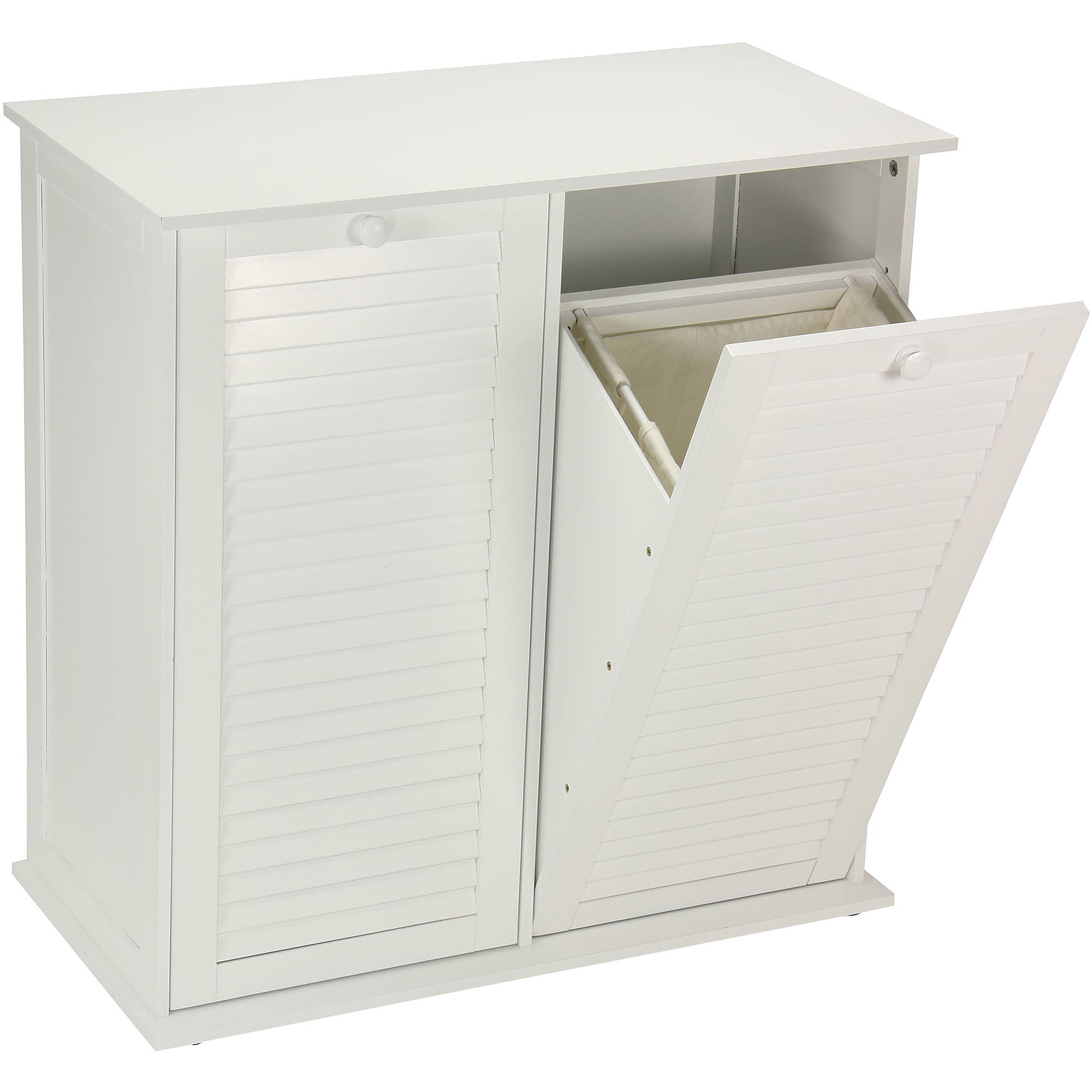 Household Essentials Tilt Out Laundry Sorter Cabinet With Shutter Front