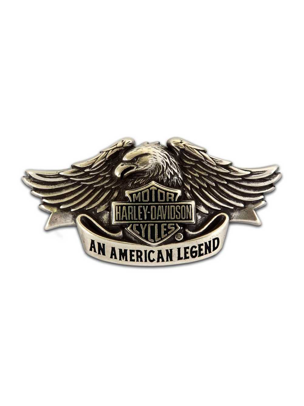 Harley-Davidson® Men/'s American Legend Brushed Chrom Belt Buckle HDMBU10082