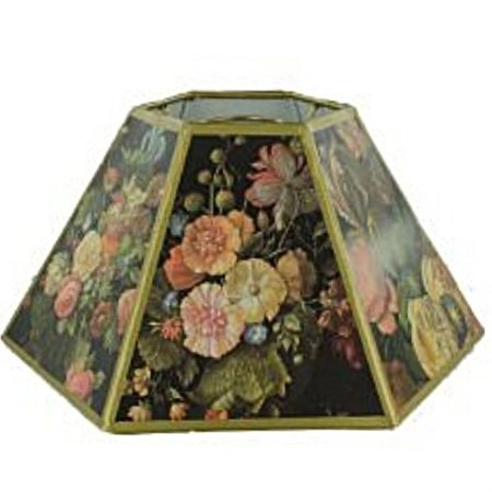 Floral Replacement (Black Floral 14 Inch Chimney Style Oil Lampshade)