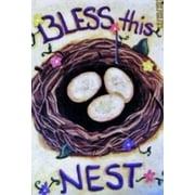 Bless This Nest Spring House Flag
