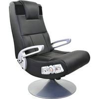 X Rocker Pedestal Gaming Chair Rocker with Bluetooth Technology