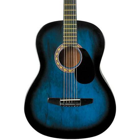 Blue Acoustic Starter Guitar - Rogue Starter Acoustic Guitar Blue Burst