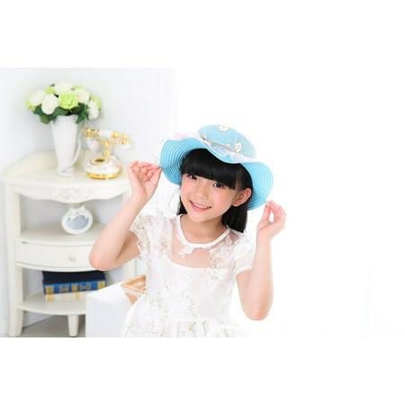 LAMINATED POSTER Portrait Bid Photo Child White Dress Girls Hat Poster Print 11 x 17