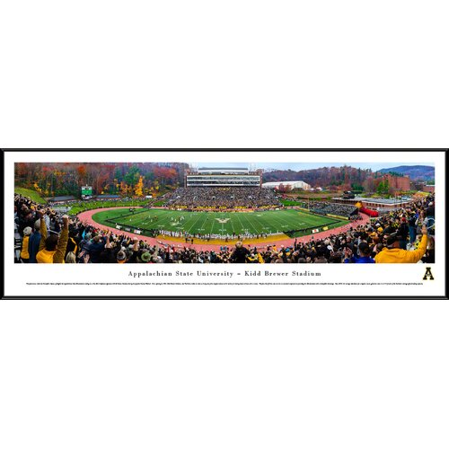 Blakeway Worldwide Panoramas, Inc NCAA Appalachian State (50 Yd - Day) by Christopher Gjevre Framed Photographic Print
