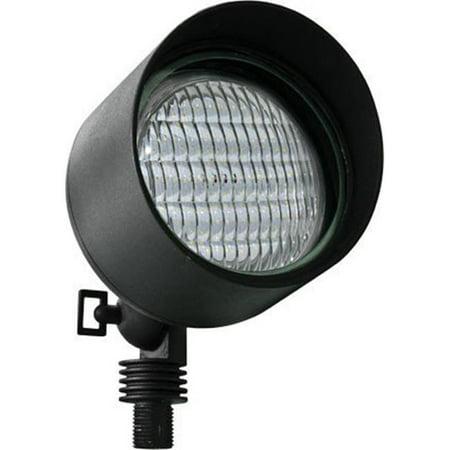 Cast Aluminum Outdoor Spotlight - Dabmar Lighting LV23-LED6-B Cast Aluminum Spot Light 6W LED - PAR36 12V, Black