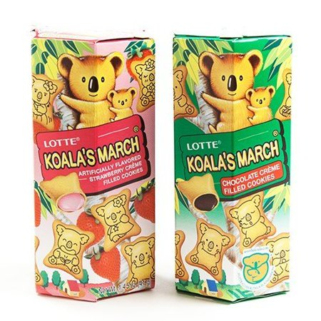 Lotte Koalas March Creme-Filled Cookies 1.45 Oz - Chocolate (1.45 ounce)