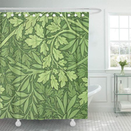 YUSDECOR Pattern William Morris Foliage Green Leaves Vintage Bathroom Decor Bath Shower Curtain 60x72 inch - image 1 of 1