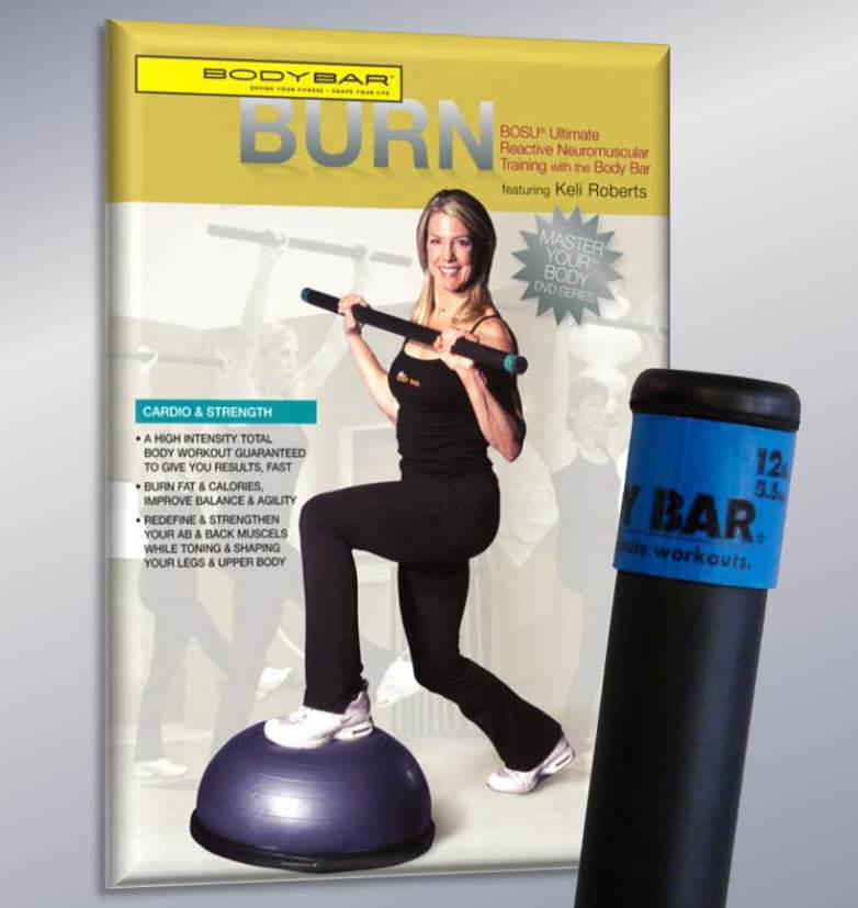 12 lbs. Body Bar with Burn DVD