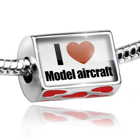 Bead I Love Model Aircraft Charm Fits All European Bracelets