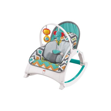 Fisher-Price CMR13 Newborn to Toddler Folding Baby Rocker Chair, Glacier Wave