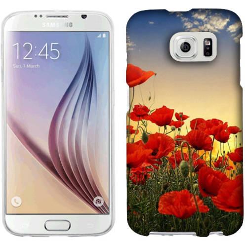 Mundaze Poppy Field Phone Case Cover for Samsung Galaxy S6