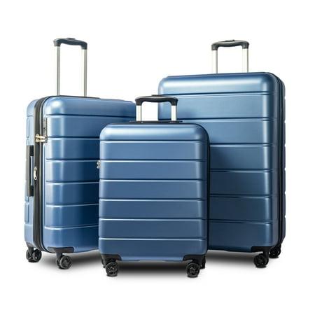 Hardside Travel Luggage Set of 3, Blue