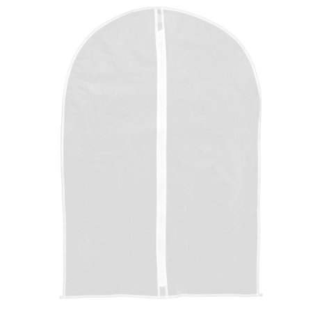 90cm x 60cm White Anti Dust Protective Suit Dress Garment Clothing Cover Bag