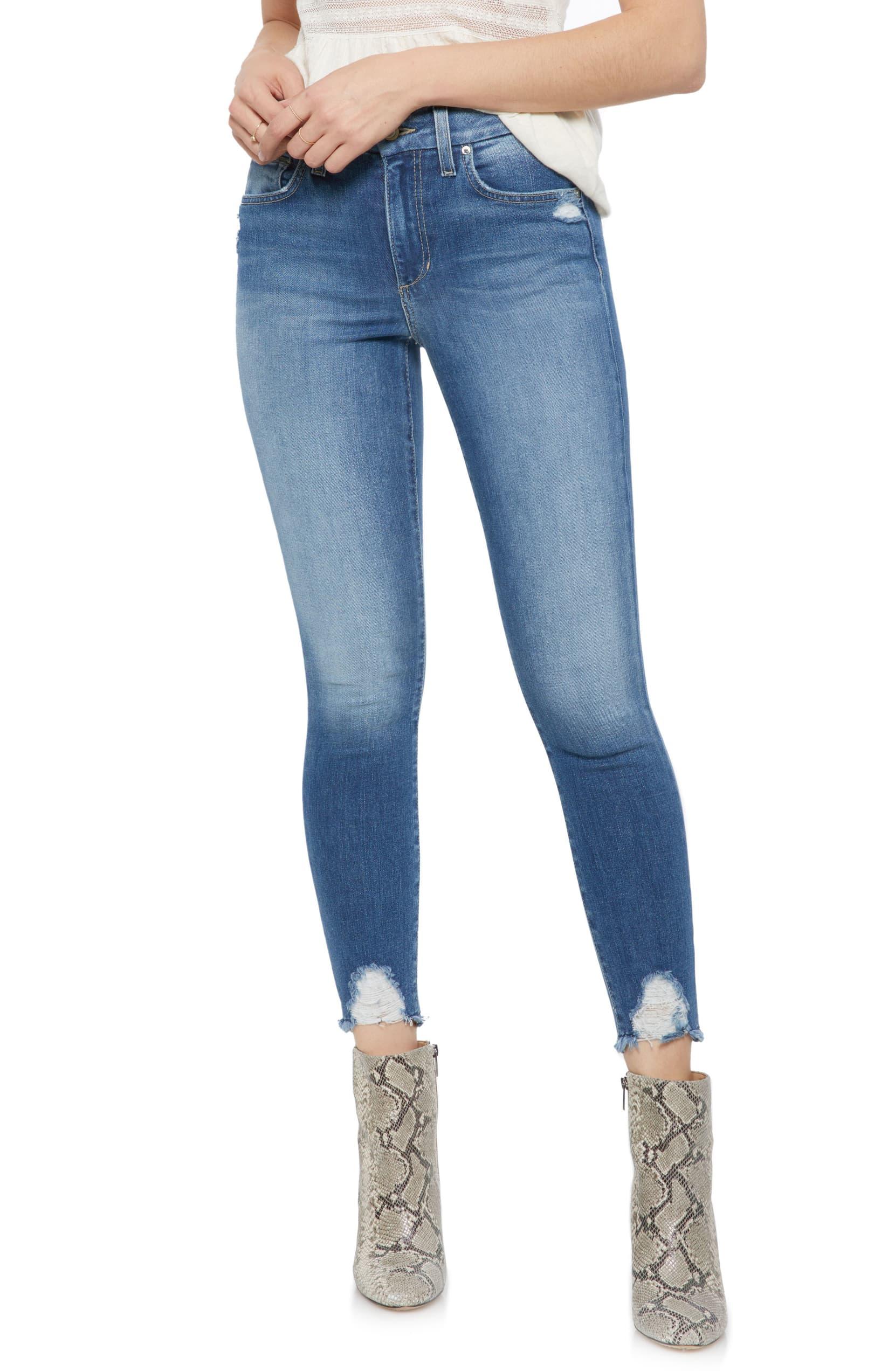 Joe/'sHigh Waist Crop Skinny JeansBlue