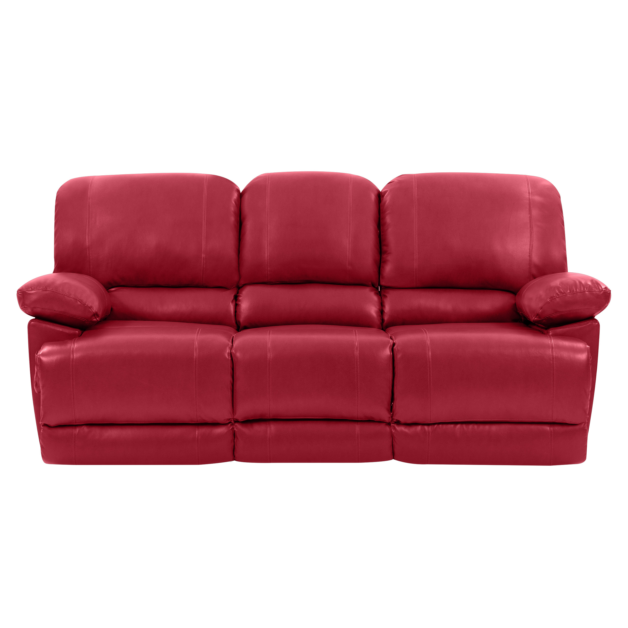 Corliving Lzy 352 S Plush Power Reclining Red Bonded