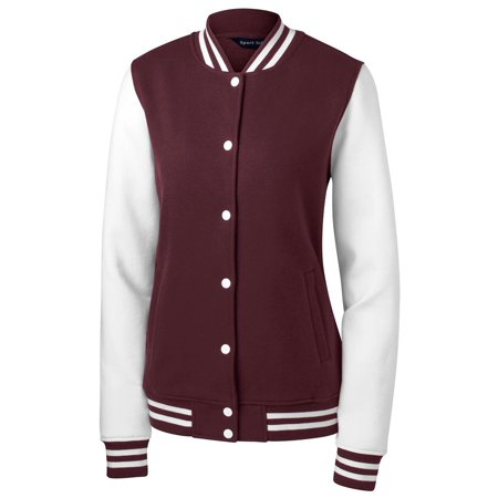 Sport Tek Women's Comfortable Fleece Letterman Jacket - Letter Man Jacket