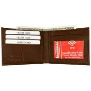 RFID Blocking Men's Leather Slim Bifold Wallet with BOX RFID1160 BOX